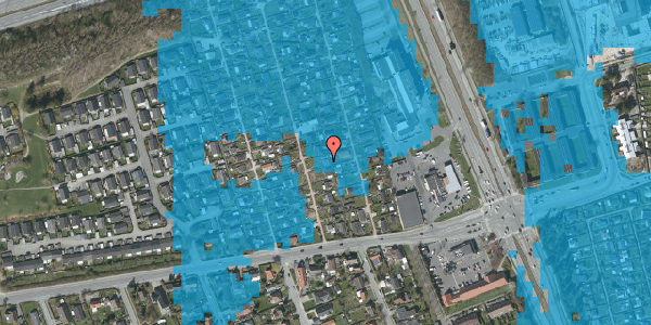 Oversvømmelsesrisiko fra vandløb på Hf. Kettehøj 80, 2650 Hvidovre