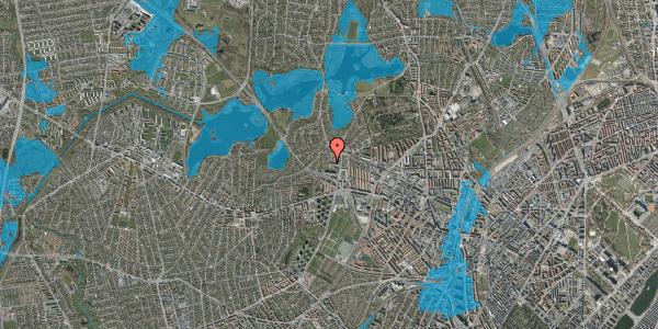 Oversvømmelsesrisiko fra vandløb på Efterslægtsvej 5, st. , 2400 København NV