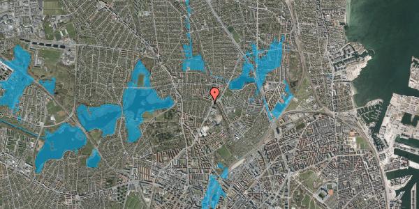 Oversvømmelsesrisiko fra vandløb på Bispebjerg Parkallé 3, 2400 København NV