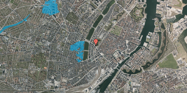 Oversvømmelsesrisiko fra vandløb på Vester Farimagsgade 43, 5. , 1606 København V