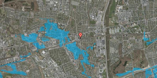 Oversvømmelsesrisiko fra vandløb på Banegårdsvej 25, 2600 Glostrup