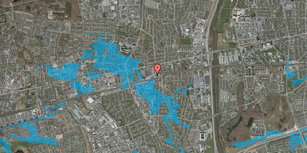Oversvømmelsesrisiko fra vandløb på Banegårdsvej 106A, 2600 Glostrup