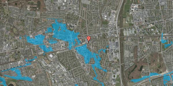 Oversvømmelsesrisiko fra vandløb på Banegårdsvej 110A, 2600 Glostrup