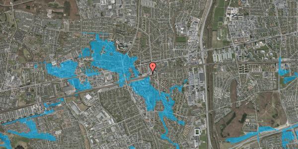 Oversvømmelsesrisiko fra vandløb på Banegårdsvej 208A, 2600 Glostrup