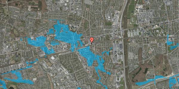 Oversvømmelsesrisiko fra vandløb på Banegårdsvej 210, 2600 Glostrup