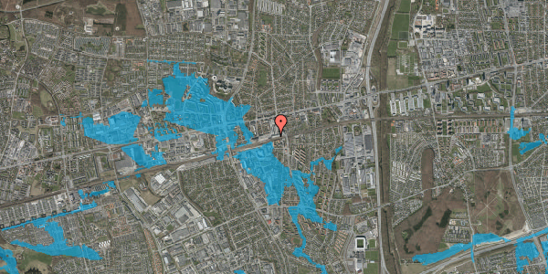 Oversvømmelsesrisiko fra vandløb på Banegårdsvej 214, 2600 Glostrup
