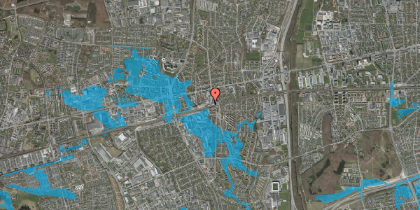 Oversvømmelsesrisiko fra vandløb på Banegårdsvej 216A, 2600 Glostrup