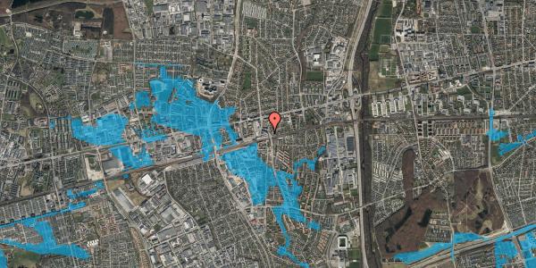 Oversvømmelsesrisiko fra vandløb på Østbrovej 2G, 4. tv, 2600 Glostrup