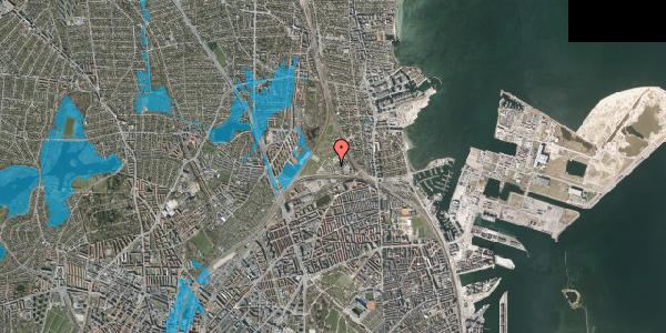 Oversvømmelsesrisiko fra vandløb på Svanemøllens Kaserne 99, 2100 København Ø