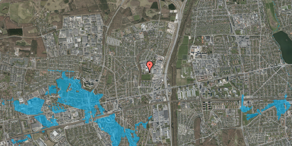 Oversvømmelsesrisiko fra vandløb på Hvissingevej 63B, 2600 Glostrup
