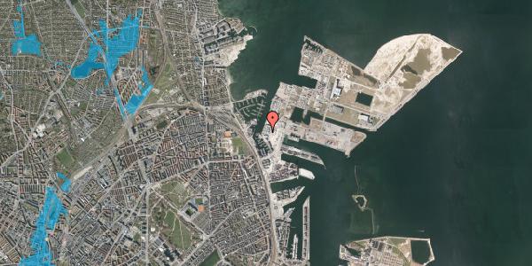 Oversvømmelsesrisiko fra vandløb på Sundkrogen 4, st. , 2100 København Ø