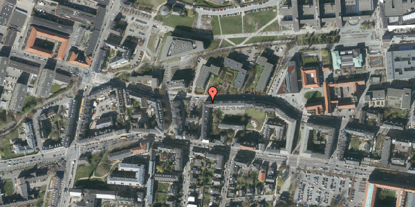 Oversvømmelsesrisiko fra vandløb på Howitzvej 55A, 2000 Frederiksberg