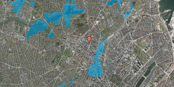 Oversvømmelsesrisiko fra vandløb på Rentemestervej 42A, 2400 København NV
