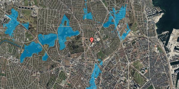 Oversvømmelsesrisiko fra vandløb på Peter Rørdams Vej 2A, 2. 2, 2400 København NV