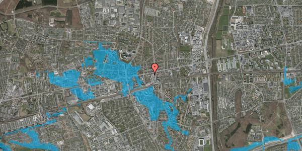 Oversvømmelsesrisiko fra vandløb på Glostrup Shoppingcenter 25, st. , 2600 Glostrup