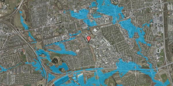 Oversvømmelsesrisiko fra vandløb på Promenaden 46, 2625 Vallensbæk