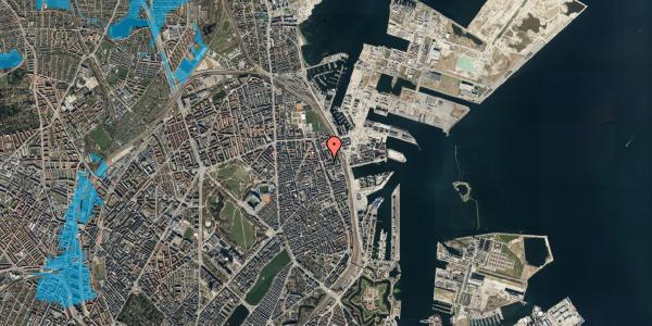Oversvømmelsesrisiko fra vandløb på Århusgade 102, 5. , 2100 København Ø