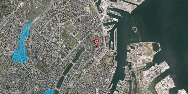 Oversvømmelsesrisiko fra vandløb på Lipkesgade 5B, 1. th, 2100 København Ø