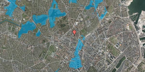 Oversvømmelsesrisiko fra vandløb på Landsdommervej 24, 2400 København NV