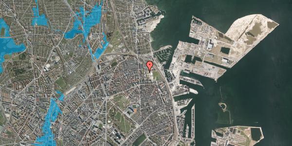 Oversvømmelsesrisiko fra vandløb på Nyborggade 23, 2100 København Ø