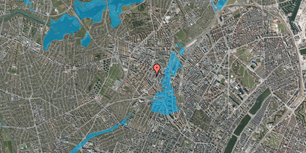 Oversvømmelsesrisiko fra vandløb på Ørnevej 42B, 2400 København NV