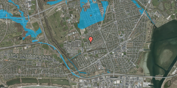 Oversvømmelsesrisiko fra vandløb på Mellemvangsvej 70, 2650 Hvidovre