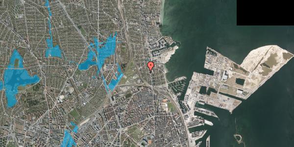 Oversvømmelsesrisiko fra vandløb på Vangehusvej 5, 2100 København Ø
