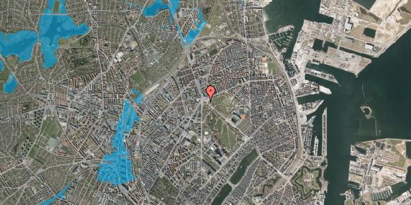Oversvømmelsesrisiko fra vandløb på Øster Allé 62, 2100 København Ø