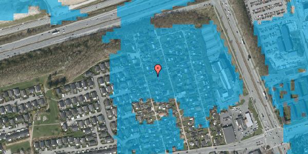 Oversvømmelsesrisiko fra vandløb på Hf. Kettehøj 16, 2650 Hvidovre