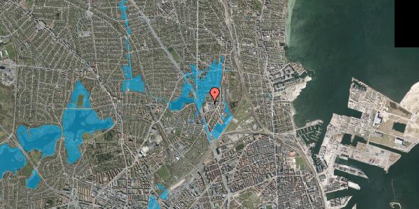 Oversvømmelsesrisiko fra vandløb på Bomhusvej 20B, 1. , 2100 København Ø