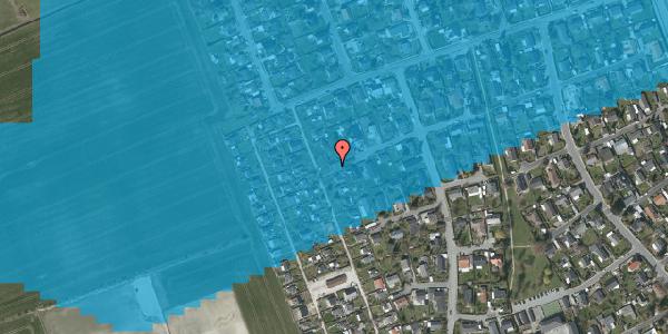 Oversvømmelsesrisiko fra vandløb på Hf. Dahlia 44, 2650 Hvidovre