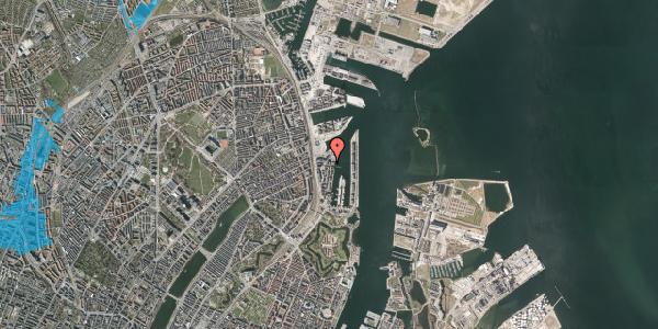 Oversvømmelsesrisiko fra vandløb på Amerika Plads 36, 2. th, 2100 København Ø