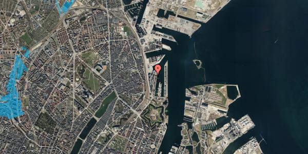 Oversvømmelsesrisiko fra vandløb på Amerika Plads 36, 4. tv, 2100 København Ø
