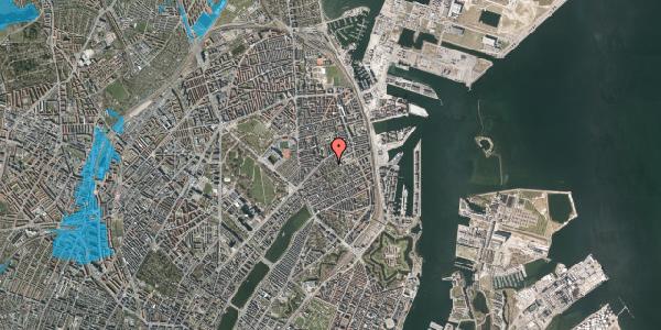 Oversvømmelsesrisiko fra vandløb på A.L. Drewsens Vej 6, 2100 København Ø