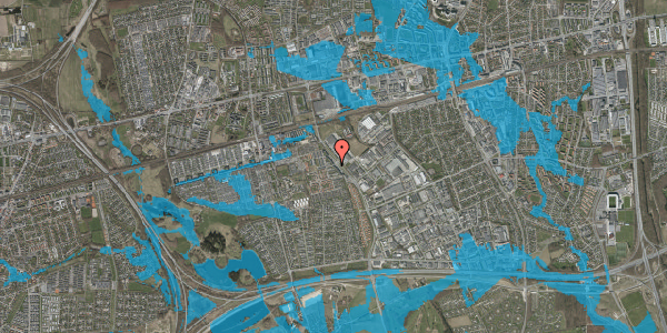 Oversvømmelsesrisiko fra vandløb på Firkløverparken 1, 2. tv, 2625 Vallensbæk