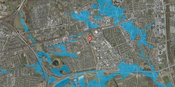 Oversvømmelsesrisiko fra vandløb på Firkløverparken 3, 1. tv, 2625 Vallensbæk