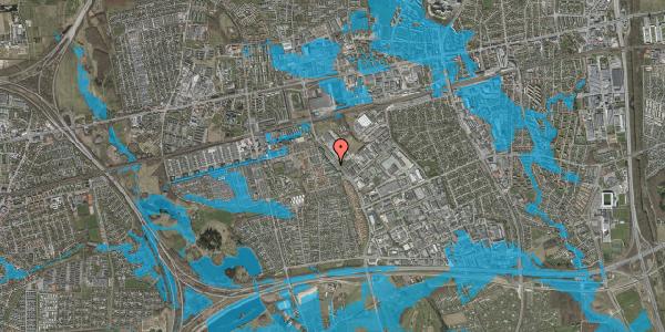 Oversvømmelsesrisiko fra vandløb på Firkløverparken 9, st. tv, 2625 Vallensbæk