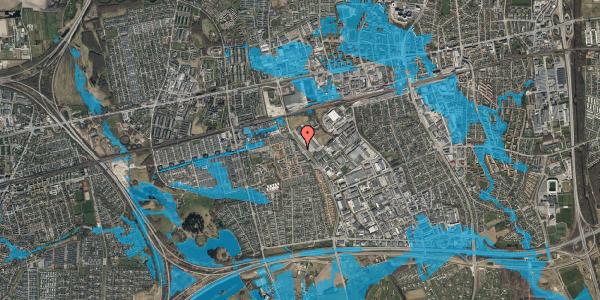 Oversvømmelsesrisiko fra vandløb på Firkløverparken 10, st. tv, 2625 Vallensbæk