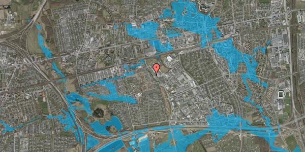 Oversvømmelsesrisiko fra vandløb på Firkløverparken 12, 2625 Vallensbæk