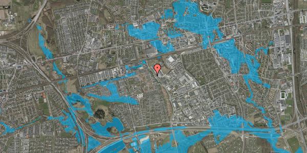 Oversvømmelsesrisiko fra vandløb på Firkløverparken 14, 2625 Vallensbæk