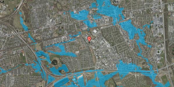 Oversvømmelsesrisiko fra vandløb på Firkløverparken 15, 2625 Vallensbæk