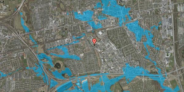 Oversvømmelsesrisiko fra vandløb på Firkløverparken 17, 2625 Vallensbæk