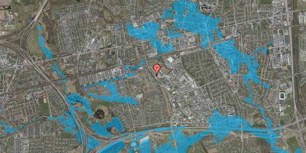 Oversvømmelsesrisiko fra vandløb på Firkløverparken 18, 2625 Vallensbæk