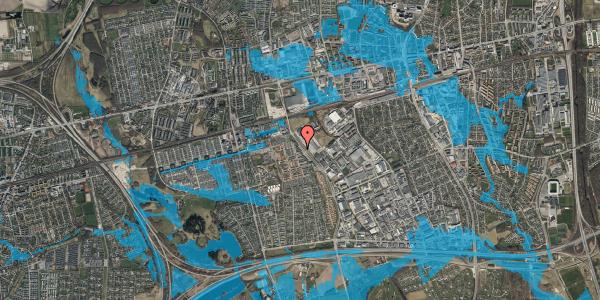 Oversvømmelsesrisiko fra vandløb på Firkløverparken 20, 2625 Vallensbæk
