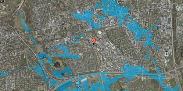 Oversvømmelsesrisiko fra vandløb på Firkløverparken 21, 2625 Vallensbæk