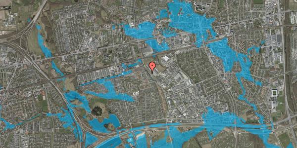 Oversvømmelsesrisiko fra vandløb på Firkløverparken 22, 2625 Vallensbæk