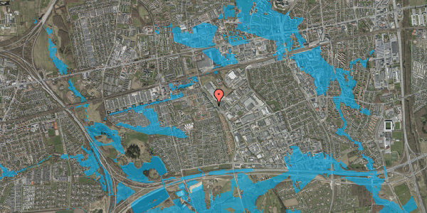 Oversvømmelsesrisiko fra vandløb på Firkløverparken 23, 1. 11, 2625 Vallensbæk