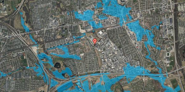 Oversvømmelsesrisiko fra vandløb på Firkløverparken 23, 2. 24, 2625 Vallensbæk