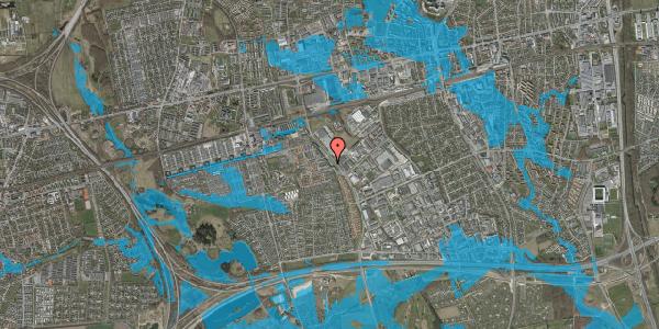 Oversvømmelsesrisiko fra vandløb på Firkløverparken 23, st. tv, 2625 Vallensbæk