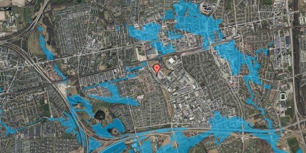 Oversvømmelsesrisiko fra vandløb på Firkløverparken 28, 2625 Vallensbæk